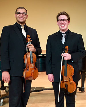 James Cunningham IV and Devin Moore, viola duo